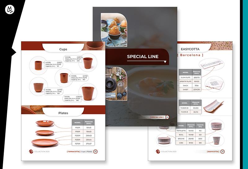 Diseño de catálogo para empresa fabircante de cerámicas en Breda, Girona.