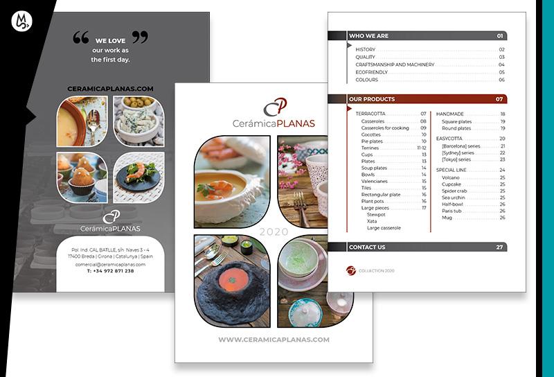 Diseño de catálogo de productos cerámicos