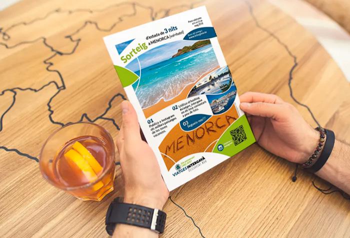 Flyer publicitario para sorteo de viaje