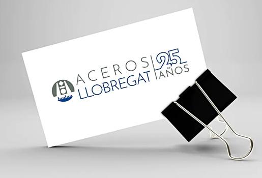 Diseño de logo 25 años Aceros Llobregat