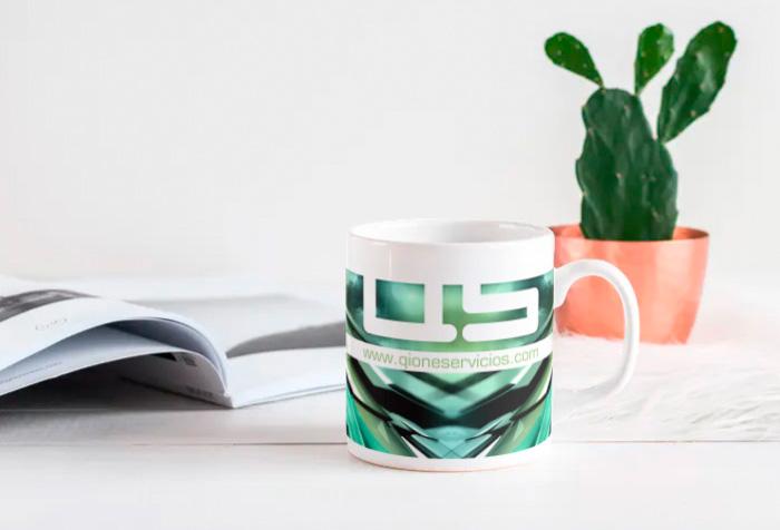 Diseño de taza promocional