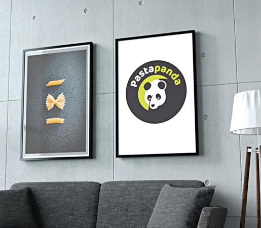 Diseño de logo sello para marca de restaurantes de pasta