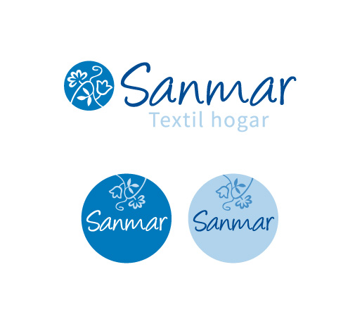 Diseño de logo y sellos circulares empresa textil