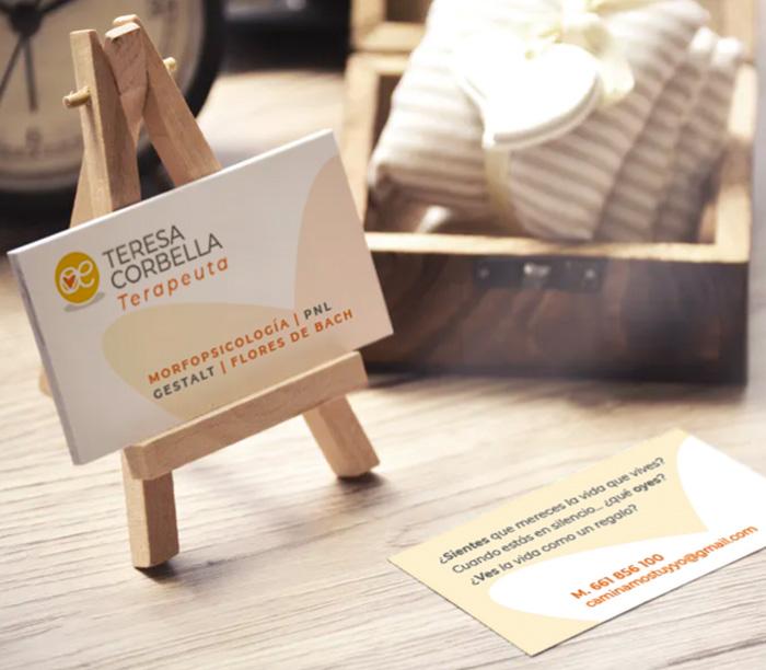 Diseño tarjeta terapias gestalt y PNL