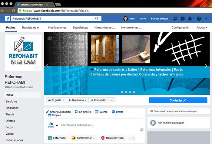 Diseño de cabecera FB para empresa de reformas