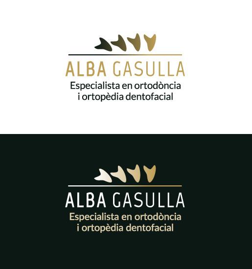 Logotipo para profesional de la ortodoncia dental y facial