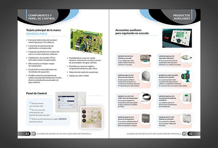 Diseño de catálogo productos industriales y calderas