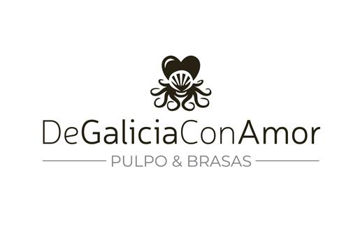 Logotipo para restaurante gallego y brasería pulpería.