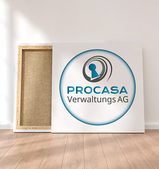 Diseño de logo empresa inmobiliaria suiza
