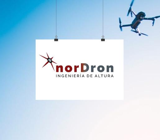 Logo para servicios ingeniería con drones