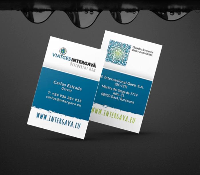 Tarjetas de visita empresariales para agencia de viajes