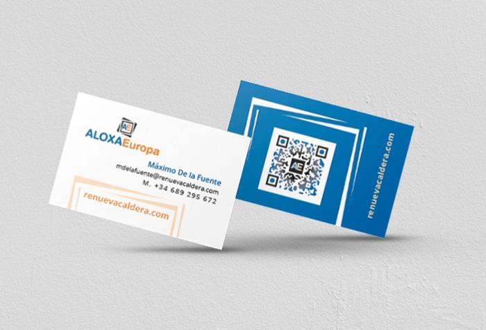 ALOXA Europa > Diseño de tarjeta de visita, empresa de instalaciones.
