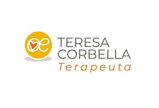 Teresa Corbella > Diseño de logo para marca personal de terapeuta.