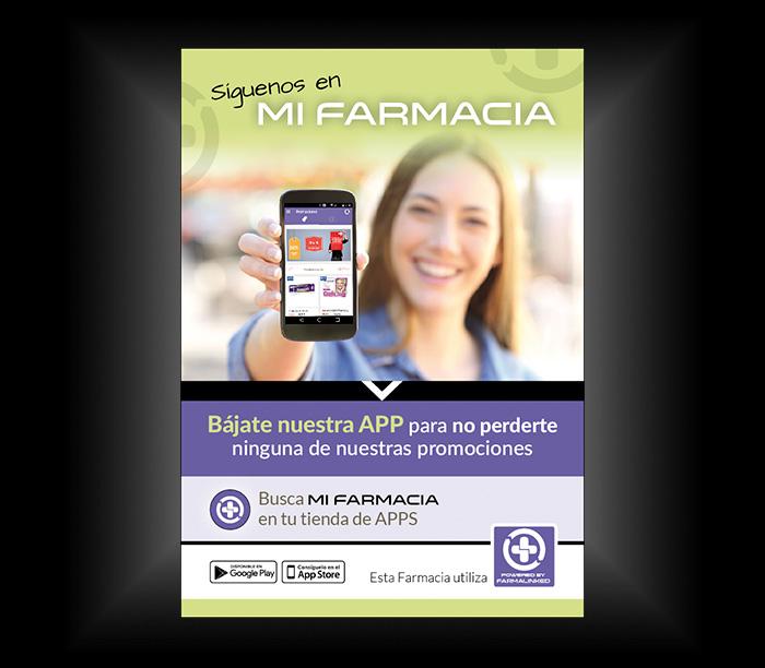Anuncio A4 para APP sector farmacias