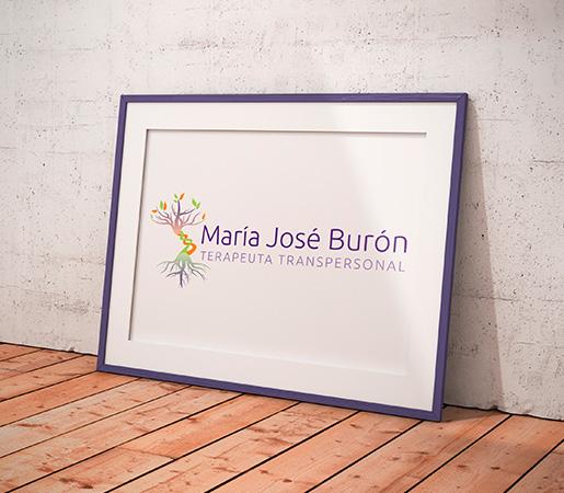 Maria José Burón > Diseño de logomarca personal de terapeuta transpersonal.