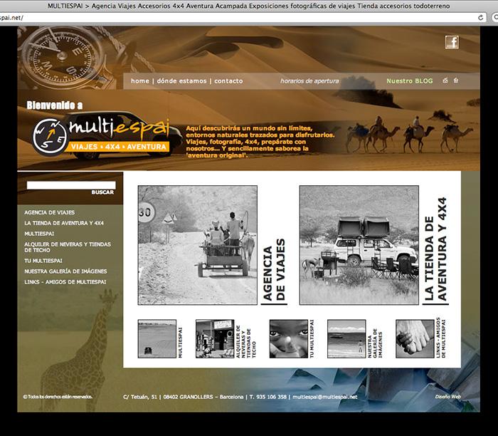 Diseño de página web para viajes 4x4