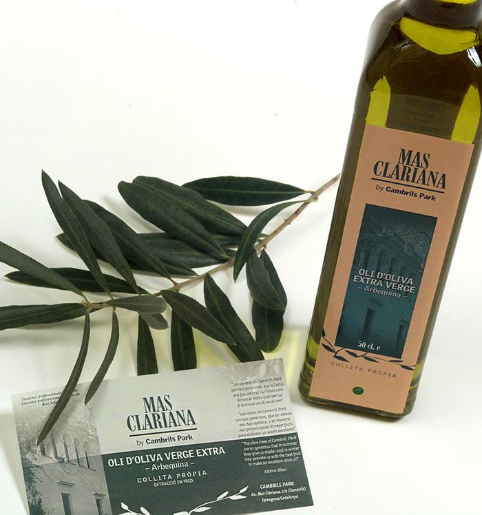 Diseño de etiquetas para garrafa y botella de aceite