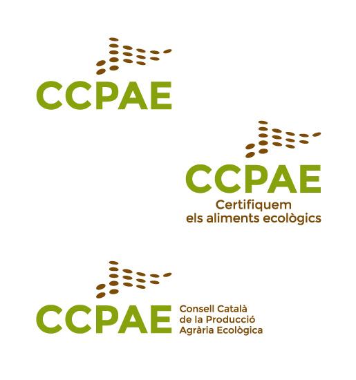 CCPAE – Consell Català de la Producció Agrària Ecològica > Imagen corporativa integral, diseño de logotipo para consejo regulador agrario ecológico de Cataluña.