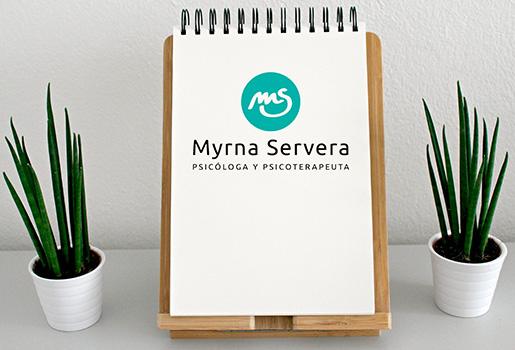 Myrna Servera > Logotipo de marca personal para psicóloga y psicoterapeuta.