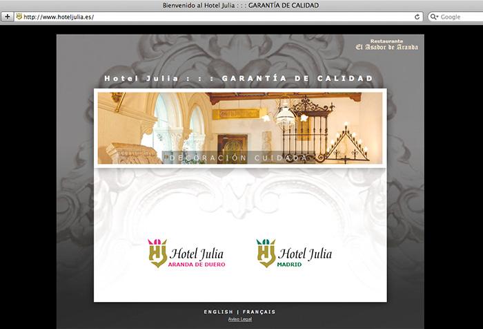 Web diseñada para cadena hotelera
