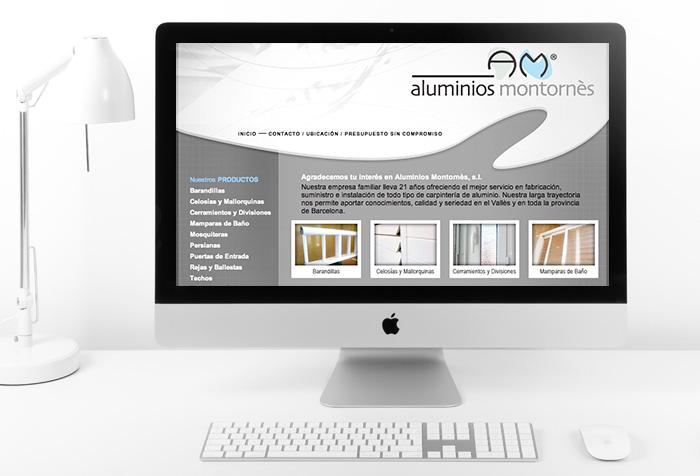 Página web empresa de aluminos