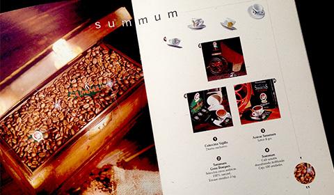 Diseños de catálogos para productos del café