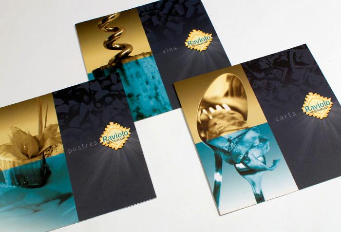Diseño de tres cartas de restaurante