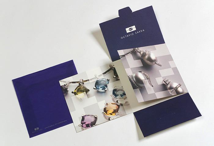 Diseño de folleto tríptico para joyería