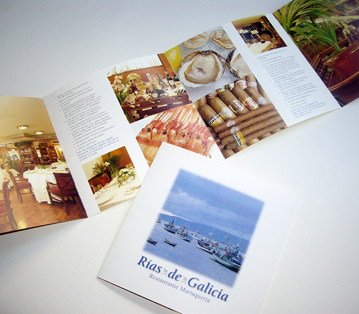 Diseño de folleto formato cuadrado