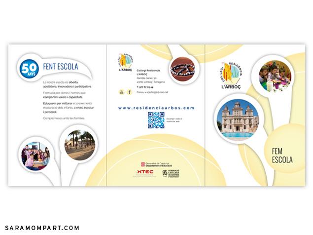 Diseño de folleto y flyer para escuela colegio