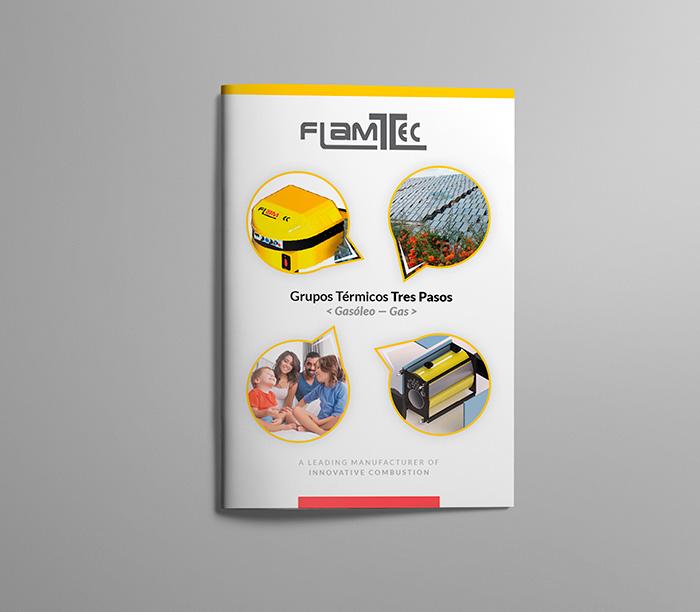 Portada de catálogo industrial para grupos térmicos