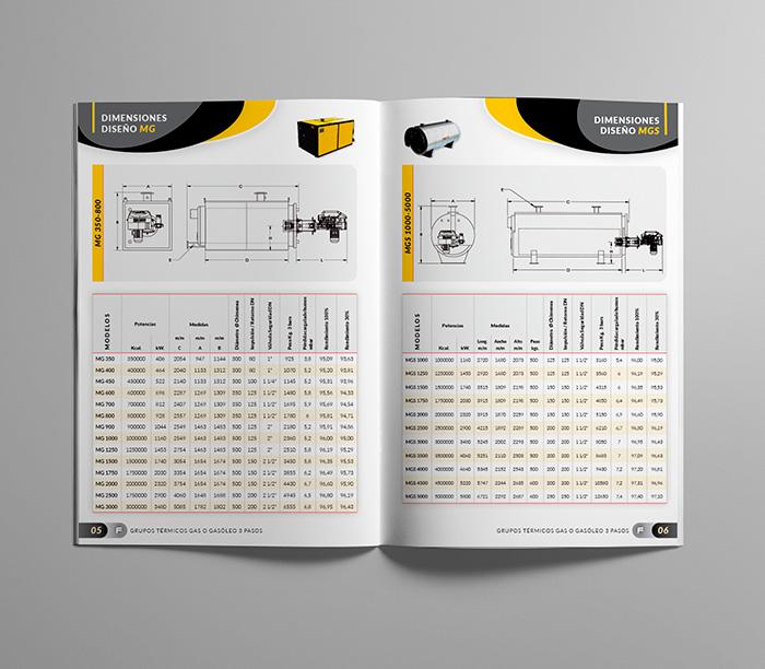 Diseño de página interior de catálogo