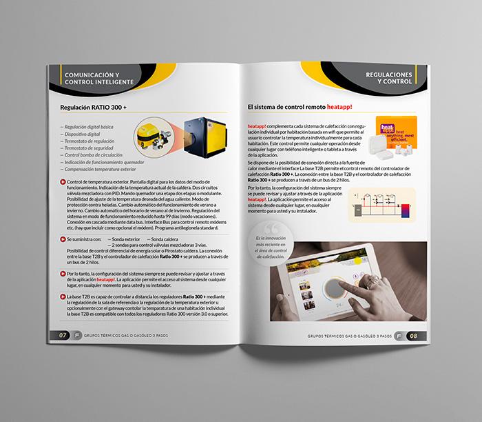 Páginas interiores para catálogo de productos