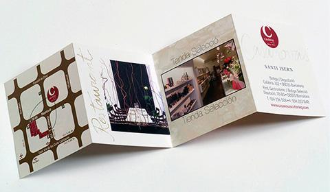 Diseño de tarjeta de visita para restaurante y catering