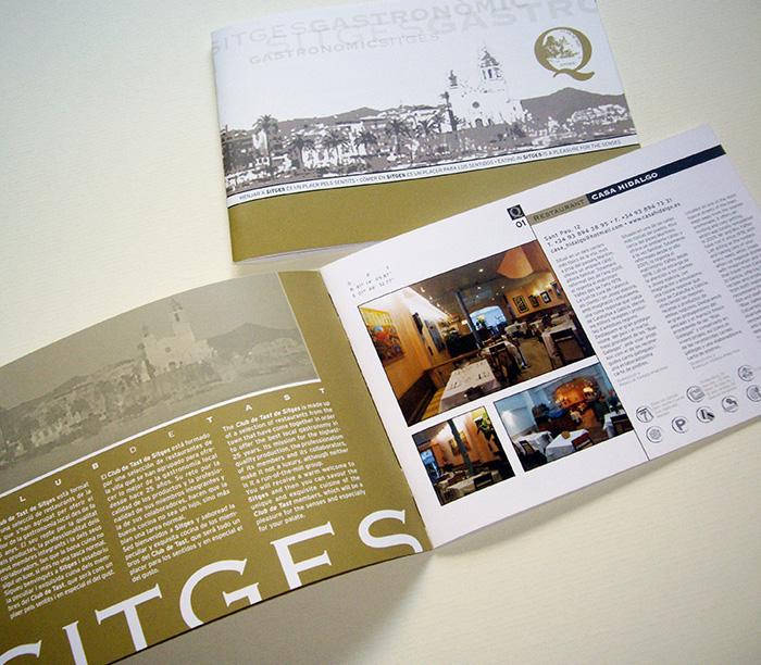 Diseño de guía catálogo de restaurantes en Sitges.