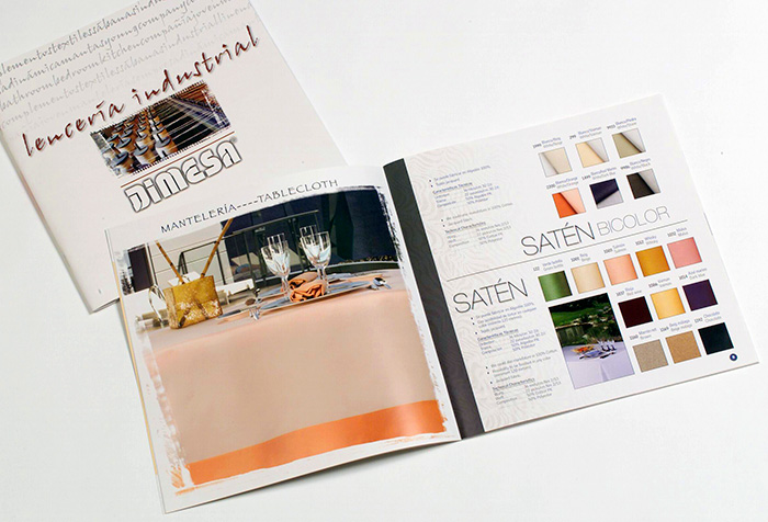 Diseño de catálogos con productos de lencería industrial