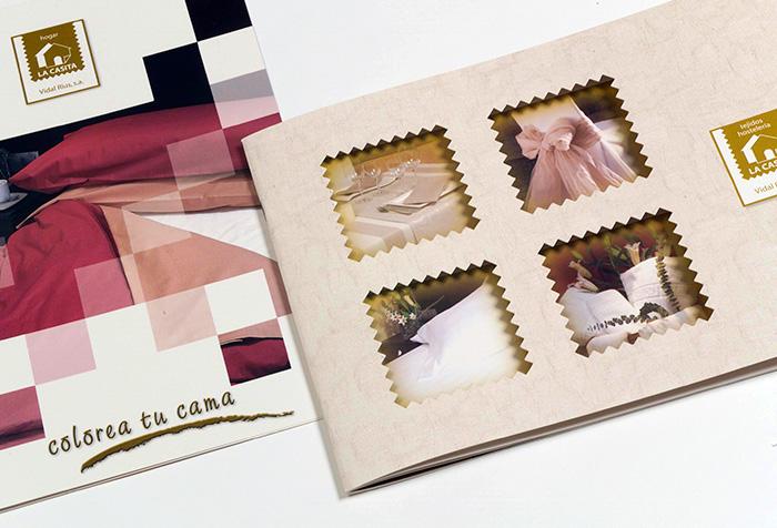 Diseños catálogos porductos textiles cama