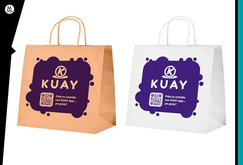 Diseño de bolsas papel con logo y QR