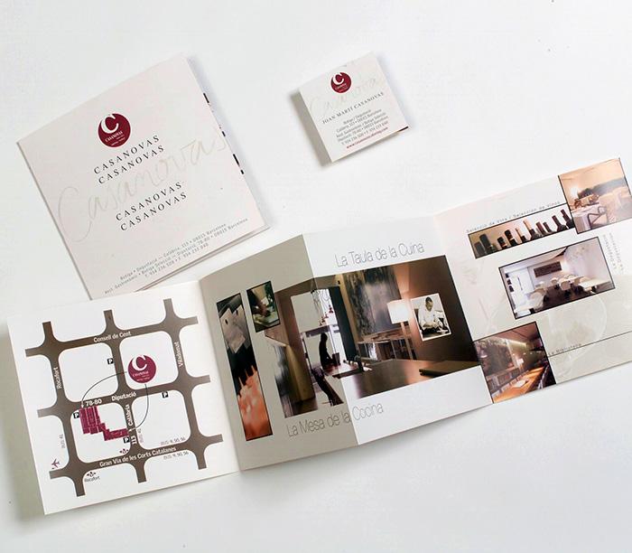 Diseño de folleto para catering