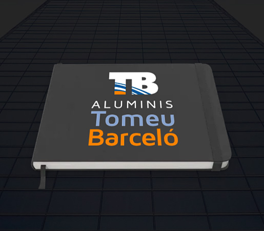 Logo diseñado para empresa de instalación en aluminio