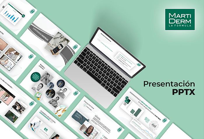 MARTI DERM > Presentación PowerPoint de resultados y estadísticas online.