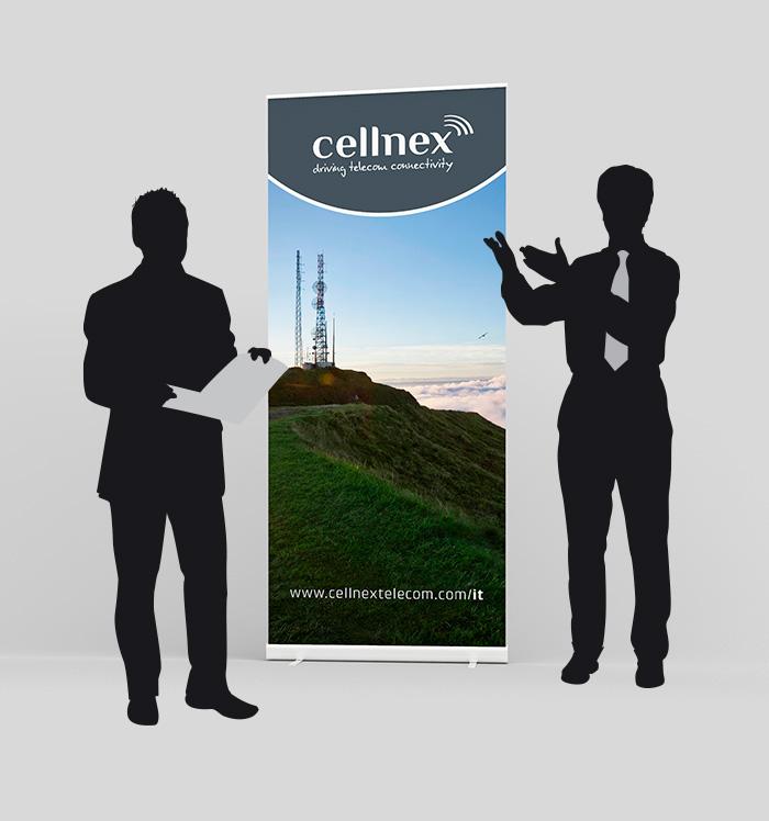 Roll-up diseñado para empresa Cellnex Telecom Italia